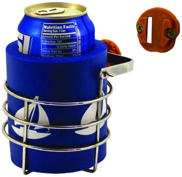 KIMPEX Swivel Mount Brass Drink Holder