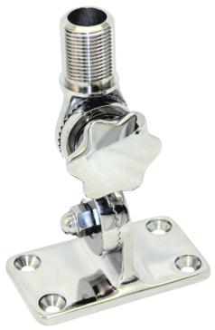 Socle d'antenne en acier inoxydable pour fixation au pont avec bouton BOATER SPORTS