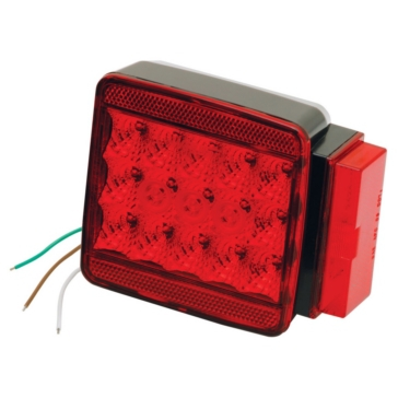 """Wesbar Submersible Taillight for 80"""" or more Red"""