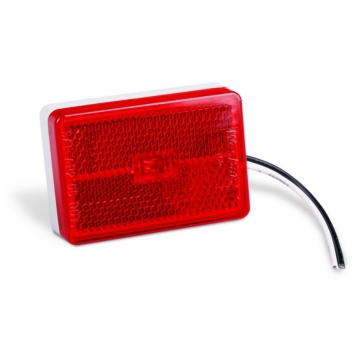 WESBAR Side Marker Light with Reflex Lens Red, White