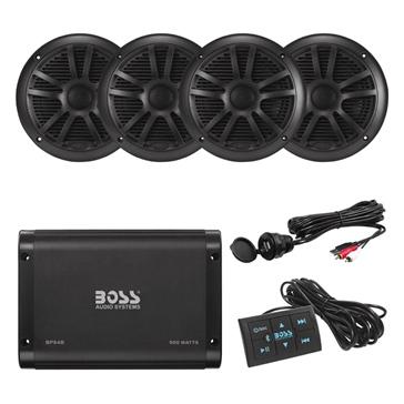 Boss Audio Amplifier and Speaker Kit BPS4BSK ATV - 4