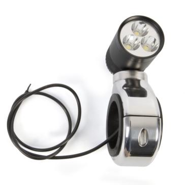 Black SKYLON Light with large clamp mount