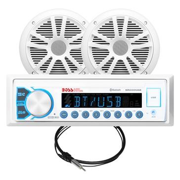 Boss Audio Audio Receiver & Speaker - MCK400WB.6 Marine - 2 - 180 W