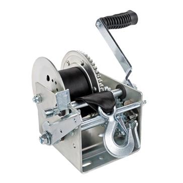 Kimpex Treuil manuel 2500 lb très robuste à deux vitesses, avec sangle