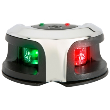 Attwood LightArmor Deck Mount Navigation Lights Bi-color Lights - Black, White