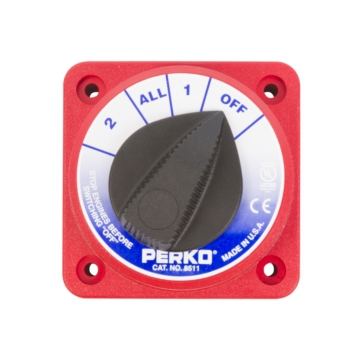PERKO  Compact Medium Duty Battery Selector Switch
