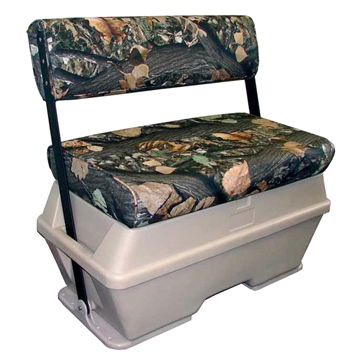 Moeller Deluxe Swing Back Cooler/Livewell/50 Gallons Seat Bench