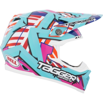 Tagger Trouble BELL Moto-9 Off-Road Helmet Limited Edition