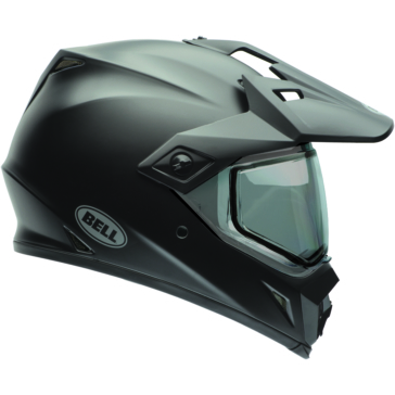 Solid BELL MX-9 Adventure Off-Road Helmet, Snow