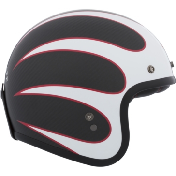 Ace Cafe Tonup BELL Custom 500 Carbon Open-Face Helmet