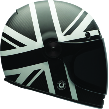 Ace Black Jack - Single Shield, Dark Smoke Shield BELL Bullitt - Carbon Full-Face Helmet
