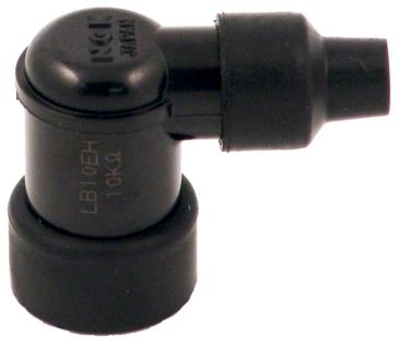 Connecteur de bougie à résistance NGK Coude 90°