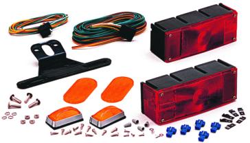 Optronics Ensemble de feux étanches Rouge