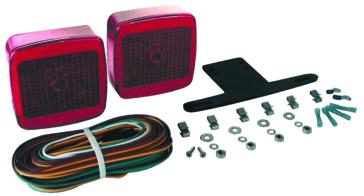 """Optronics L.E.D. Waterproof Under 80"""" Trailer Light Kit Red"""