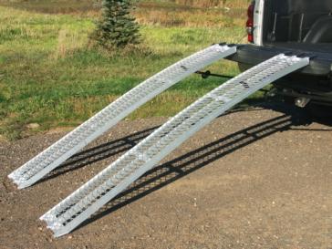 YUTRAX Rampe courbée en aluminium XL