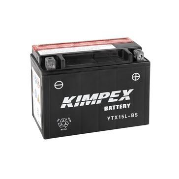 Kimpex Battery Maintenance Free AGM YTX15L-BS