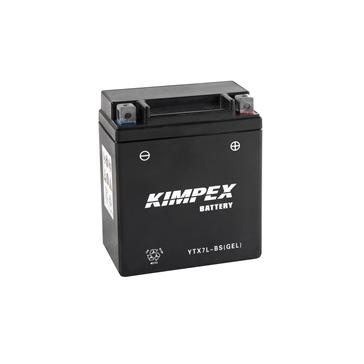 Kimpex Batterie au gel sans entretien activée en usine YTX7L-BS(GEL)-PP