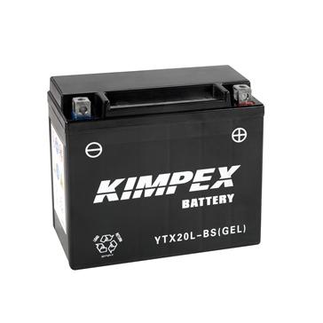 Kimpex Batterie au gel sans entretien activée en usine YTX20(L)-BS(GEL)-PP