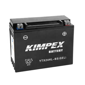 YTX24HL-BS(GEL)-PP KIMPEX Factory Activated Maintenance Free Gel Battery