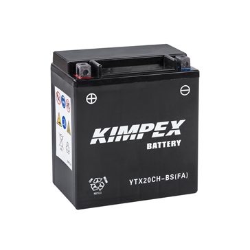 Kimpex Battery Maintenance Free AGM High Performance YTX20CH-BS(FA)
