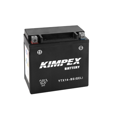 YTX14-BS(GEL)-PP KIMPEX Factory Activated Maintenance Free Gel Battery