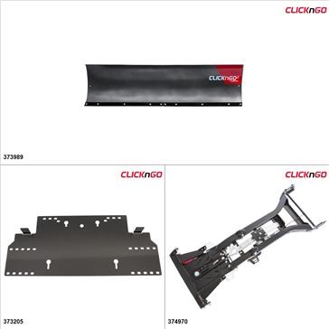 """ClickNGo GEN 2 UTV Plow Kit - 72"""", Honda Pioneer 1000 2016-17"""