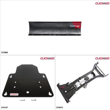 """ClickNGo GEN 2 UTV Plow Kit - 72"""", Arctic Cat Wildcat 1000 2012-15"""