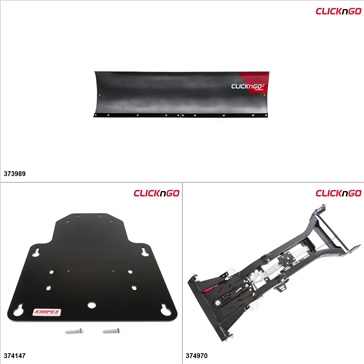 """ClickNGo GEN 2 Kit de pelle UTV - 72"""", Arctic Cat Wildcat 1000 2012-15"""