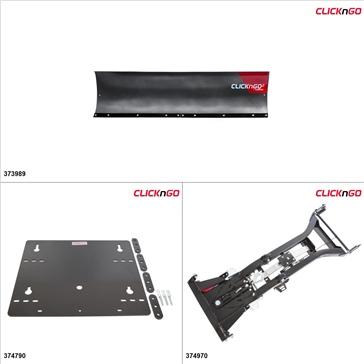 """ClickNGo GEN 2 UTV Plow Kit - 72"""", Yamaha Rhino 450 2006-09"""