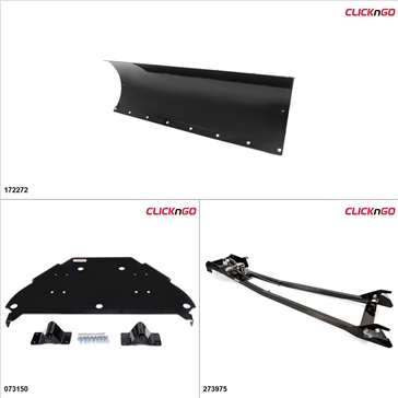 ClickNGo GEN 1 UTV Plow Kit - 66'', Can-Am Commander Max 1000 2014