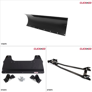 "ClickNGo GEN 1 UTV Plow Kit - 72"", Polaris RZR 800 2013"