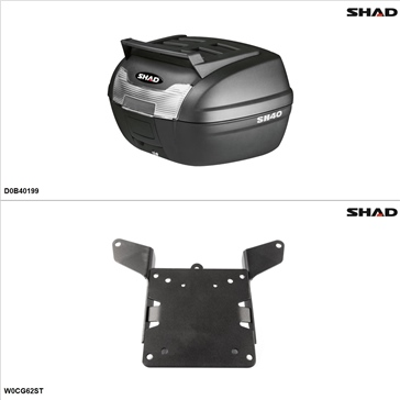 Shad SH40 Case kit - Top, BMW C650GT 2013-15