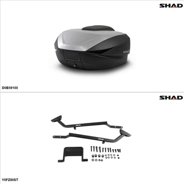 Shad SH59X Case kit - Top, Yamaha FZ8 2011-13