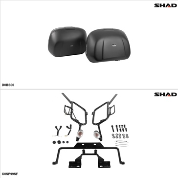 Shad SH42 Case kit - Lateral, Can-Am Spyder GS Roadster 2009