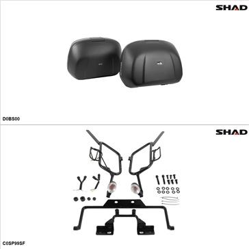Shad SH42 Kit de valise - Latérale, Can-Am Spyder GS Roadster 2009