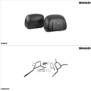 Shad SH42 Case kit - Lateral, Kawasaki ER-6N 2015