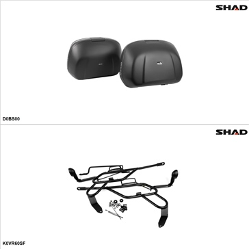 Shad SH42 Case kit - Lateral, Kawasaki Versys 650 2010-14