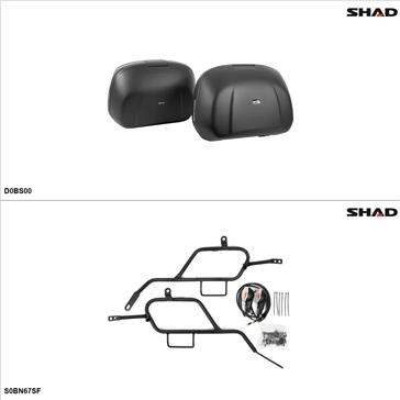 Shad SH42 Case kit - Lateral, Suzuki Bandit 1250S 2007-09