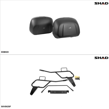 Shad SH42 Case kit - Lateral, Suzuki Vstrom 650 2012-14