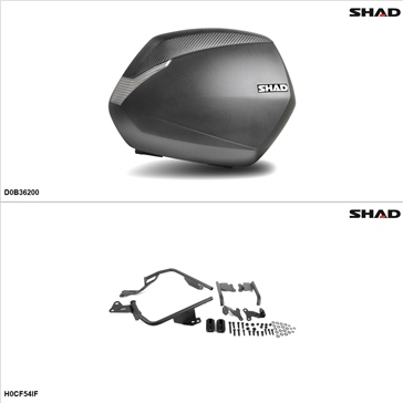 Shad SH36 Case kit - Lateral, Honda CBR500R 2013-14