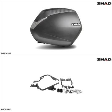 Shad SH36 Case kit - Lateral, Honda CB500F 2013-14