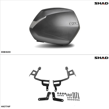 Shad SH36 Case kit - Lateral, Honda CTX700 2017