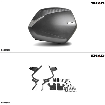 Shad SH36 Case kit - Lateral, Honda Interceptor 800 2014