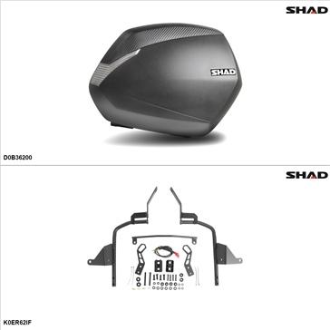 Shad SH36 Kit de valise - Latérale, Kawasaki ER-6N 2015