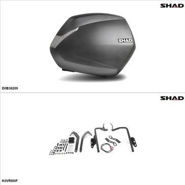 Shad SH36 Kit de valise - Latérale, Kawasaki Versys 650 2010-14