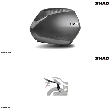 Shad SH36 Kit de valise - Latérale, Kawasaki Ninja 650 2017