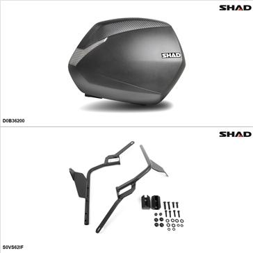 Shad SH36 Kit de valise - Latérale, Suzuki Vstrom 650 2004-09, 11