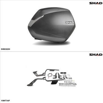 Shad SH36 Case kit - Lateral, Yamaha FZ07 2015