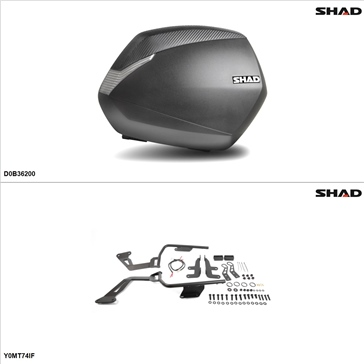 Shad SH36 Case kit - Lateral, Yamaha FZ07 2015