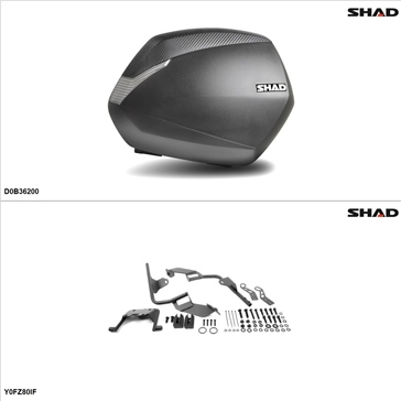 Shad SH36 Case kit - Lateral, Yamaha FZ8 2011-13